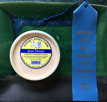 Chipotle Lime chevre - American Cheese Society award winner